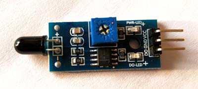 Fire or flame sensor module