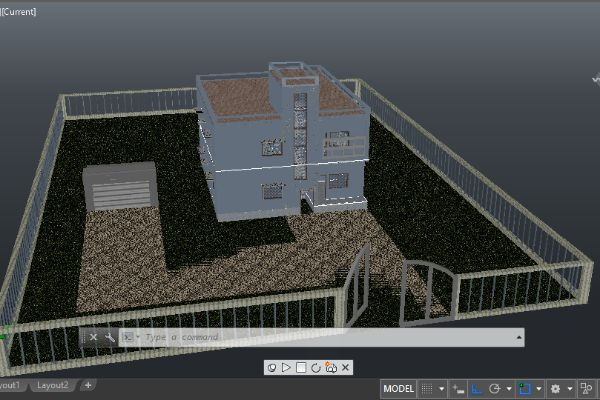 Double Storied Residential Building Using AutoCAD 2016