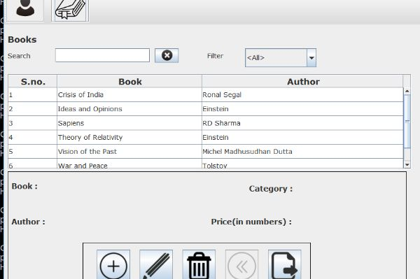 Library Information System in Java