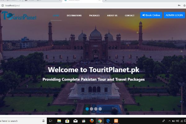 Tourist Planet Website To Book Travelling Packages