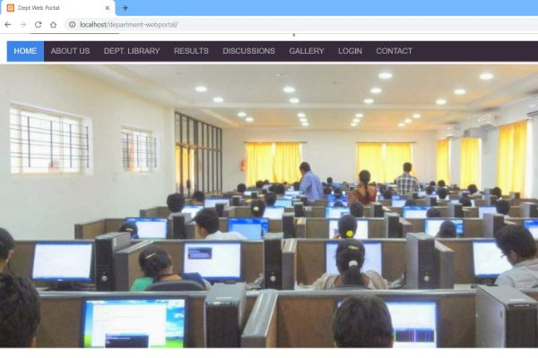 Department Web Portal Using PHP, HTML and CSS