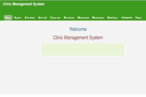 Clinic Management System using PHP, HTML and Bootstrap CSS