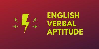 Verbal Aptitude