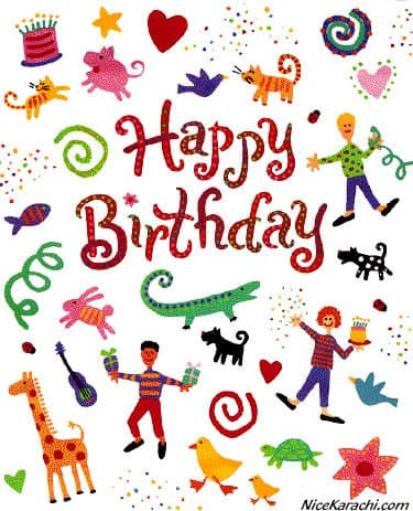 Happy birthday orkut scraps funky card