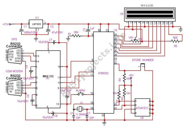 Gps Circuit Diagram | Help To Write Code For Gsm And Gps Crazyengineers