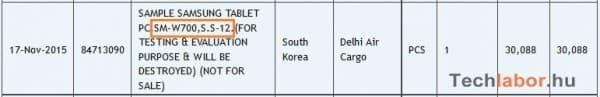 Zauba-listing-Samsung-tablet