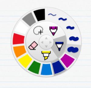 plumbago-radial-menu
